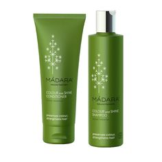 Madara Colour & Shines DuoGently cleanses and protects treated and coloured hair. Adds vigour and shine. Hair becomes softer to the touch and reflects luminous light.   The conditioner helps smooth frizz and maintains vibrancy of hair colour.   Hair becomes shinier, silky smooth and easier to style.