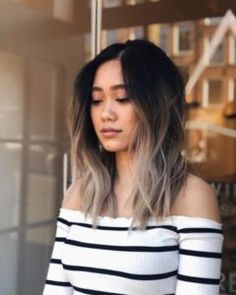 Ash Blonde Hair Colour Ideas and Looks # Balayage Aschblond Haarfarbe Ideen und Looks # Balayage Dark Ombre Hair, Ombre Hair Color, Blonde Color, Cool Hair Color, Ombre Brown, Brown Brown, Dark Hair To Blonde, Asian Ombre Hair, Black Lob