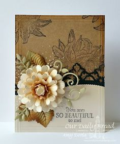 Our Daily Bread Designs Stamp set: Beauty, Our Daily Bread Designs Custom Dies:Leafy Edges Borders, Pretty Posies, Fancy Foliage