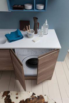 6 grandes ideas para que entre la lavadora en un baño pequeño