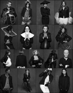 Collage Celebrities - Chanel - The Little Black Jacket | Hirai Ken, Alexa Chung, Kanye West,