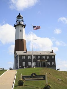 Montauk Point Lighthouse, Montauk, Long Island, New York, United States of America, North America