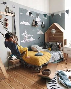 42 Our favorite ideas for a boy& bedroom How to decorate a boy& bedroom room kid room decor kid room ideas room room room ceiling room design room themes decor Girls Bedroom, Bedroom Decor, Bedroom Furniture, Playroom Decor, Playroom Ideas, Baby Bedroom, Casual Bedroom, Baby Playroom, Childs Bedroom