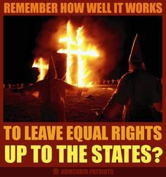 This is why we can't leave some laws up to the states ..., we need an American Government!
