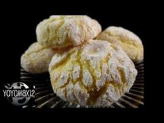 Recipes using cake mixes #25: Lemon Crinkle Cookies - YouTube