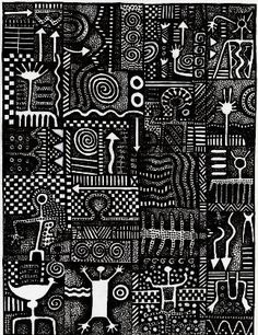 sherrill kahn rubberstamps Old Symbols, Adinkra Symbols, Sacred Symbols, Textures Patterns, Print Patterns, Fabric Art, African Art, Black Art, Doodle Art