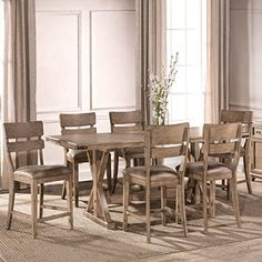 Hillsdale Leclair 7-Piece Counter Height Dining Set In Vintage Gray