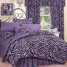 Lavender zebra twin xl bedding