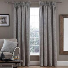 Dunelm Grey Monochrome Vermont Pencil Pleat Curtains
