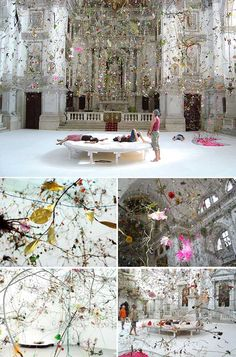This INCREDIBLE installation is called 'Falling Garden' and was created by 2 German artists; Gerda Steiner & Jorg Lenzlinger and is part of their nine 'Brainforests'.