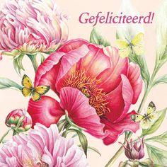Bloemen omringd door vlinders- Greetz