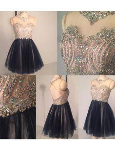 A-line+Scoop+Short/Mini+Tulle+Cocktail+Dresses/Short+Prom+Dress#+ZP440