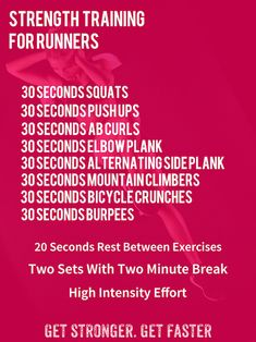 Strength Training Workout For Runners
