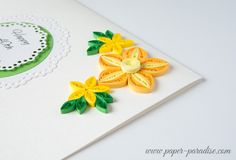 Unique Handmade Birthday Card Quilling Flowers by Paper Paradise