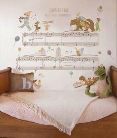 little hands clair de lune wallpaper mural {so fun}