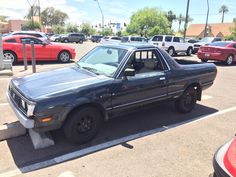 Spotted an old Subaru Brat and an old Skyline at ASU