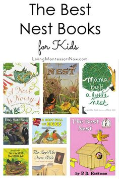 The Best Nest Books for Kids is part of Childrens books activities - Recommendations of nest books for preschoolers through elementaryage kids Nonfiction & fiction books for a nest unit Includes a discussion of which books are Montessori friendly Preschool Books, Preschool Themes, Preschool Classroom, Kindergarten Activities, Book Activities, Preschool Printables, Science Books, Toddler Art, Toddler Books