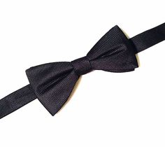 NEW Men's Tuxedo Bowtie Solid Black Polyester Neckwear Adjustable Formal Bow Tie #Unbranded #BowTie #Neckware #Formal #Tuxedo #MensFashion
