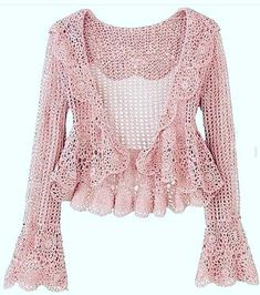 Cute and Awesome Crochet Top Patterns and Design Ideas - Daily Crochet! Cute and Awesome Crochet Top Patterns and Design Ideas Crochet Top Outfit, Crochet Coat, Crochet Jacket, Crochet Cardigan, Crochet Shawl, Crochet Clothes, Crochet Owls, Cardigan Sweaters, Crochet Mandala