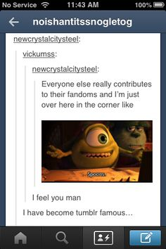 Yep. That's me... no original contributions, but I loooove being part of fandoms
