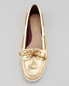 Sperry Top-Sider Audrey Metallic Python-Print Boat Shoe