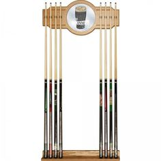 Guinness Est 1759 Officially Licensed High-End Furniture 2 Piece Oak 8 Cue Rack #Guinness