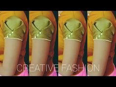 Beautiful Origami Sleeves design,Very easy.हिंदी। - YouTube