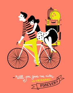animated GIF by Carolina Búzio - http://www.carolinabuzio.com/ #bicycles