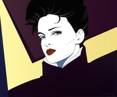 like the comic book idea 80s fashion illustrations by Patrick Nagel