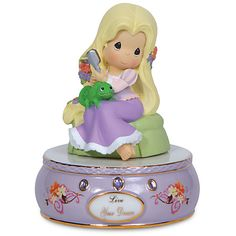 ''Live Your Dream'' Musical Rapunzel Figurine by Precious Moments