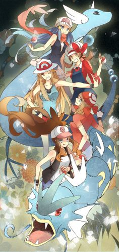 Pokemon female trainers                                                       …