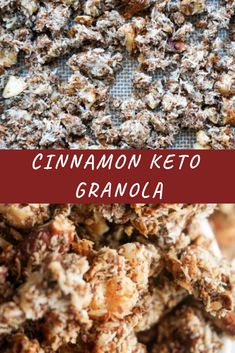 Low Carb Breakfast Recipes – The Keto Diet Recipe Cafe Low Carb Granola, Vegan Granola, Keto Cereal, Keto Diet Breakfast, Breakfast Recipes, Breakfast Ideas, Sugar Free Maple Syrup, Flax Seed Recipes, Low Carb Dessert