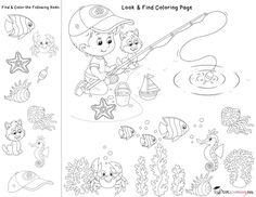 Look & Find Coloring Pages for Facebook Fans | Totschooling - Toddler and Preschool Educational Printable Activities