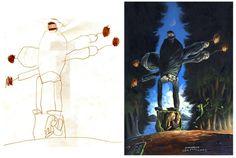 Taiteilija herättää henkiin lasten piirustukset | Vivas