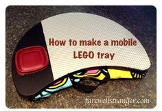 Easy instructions for making a LEGO tray for the car. No more lost LEGO!