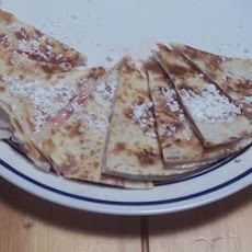 Strawberry Cheesecake Quesadillas Recipe Desserts with flour tortillas, cream cheese, strawberry jam, confectioners sugar