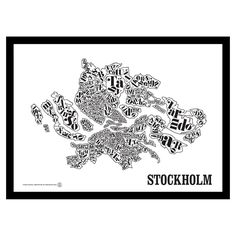 Stockholmskarta poster i gruppen Posters / Posters / Geografi hos Street Art, Graphic, Stockholm, Home Projects, Amazing Art, Tapestry, Interior Design, Prints, Poster