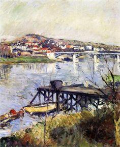 The Argenteuil Bridge - Gustave Caillebotte - c.1893