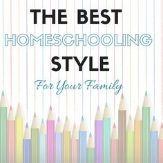 Do you know what your homeschooling style is? Come learn more about the 10 major styles, find resources and quizzes to determine your homeschooling style...
