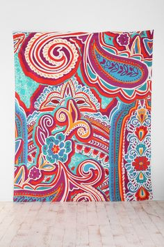 Painted Paisley Tapestry - Urban Outfitters