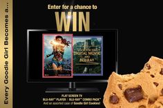 Every Goodie Girl Becomes A… Super Hero. Have You Entered for a Chance to Win a Flat Screen TV | Blu-ray™ Player | Wonder Woman Blu-ray™ Combo Pack and a case of gluten-free Goodie Girl Cookies? Enter Today!
