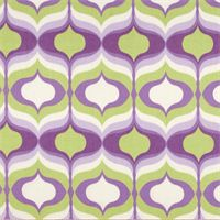 Hourglass Violet Purple Geometric Cotton Drapery Fabric by Waverly