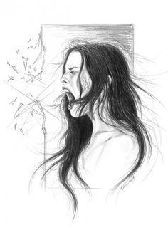 Afbeeldingsresultaat voor drawing screaming girl