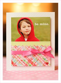 cute & simple card with photo