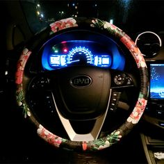 $34.85 Floral GD PU Leather Auto Car Steering Wheel Covers 15 inch 38CM - Black, Selected high-grade PU Leather, do not fall off, Inner ring using Natural rubber, Green, No stimulation, Non-Slip, Excellent breathability, pest control, sterilization, anti-static, Easy to clean, no deformation, high wear resistance, Four Seasons General.