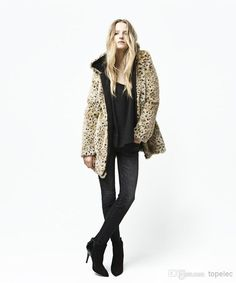 433a7494203 2019 New Sexy Women Winter Warm Fashion Leopard Jacket Print Faux Fur Coat  Long Jacket Outerwear Female Coat M1180 From Topelec