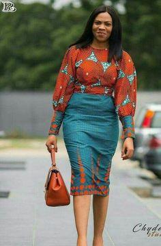 African Women's fashion & Ankara Skirt Great looking African Fashion women's clothing. womensfashionGreat looking African Fashion women's clothing. African Fashion Designers, Latest African Fashion Dresses, African Dresses For Women, African Print Dresses, African Print Fashion, Africa Fashion, African Attire, African Wear, African Women