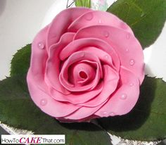 Add realistic dew drops to your gum paste flowers the easy way! One ingredient, no heating required!