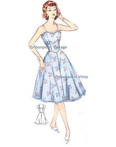 Plus Size (or any size) Vintage 1950s Petticoat Pattern - PDF - Pattern No 214 Melanie Petticoat
