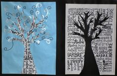 Arbre en vis à vis Camping With Teens, Ecole Art, Handprint Art, Working With Children, Art Projects, Arts And Crafts, Seasons, Winter, Inspiration